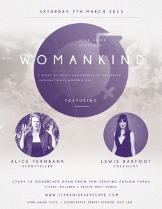 WOMANKIND Star Anise Arts Cafe Stroud 2015