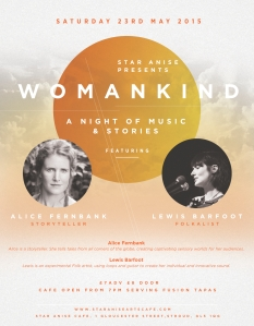 WOMANKIND, Star Anise Arts Cafe, May 2015.